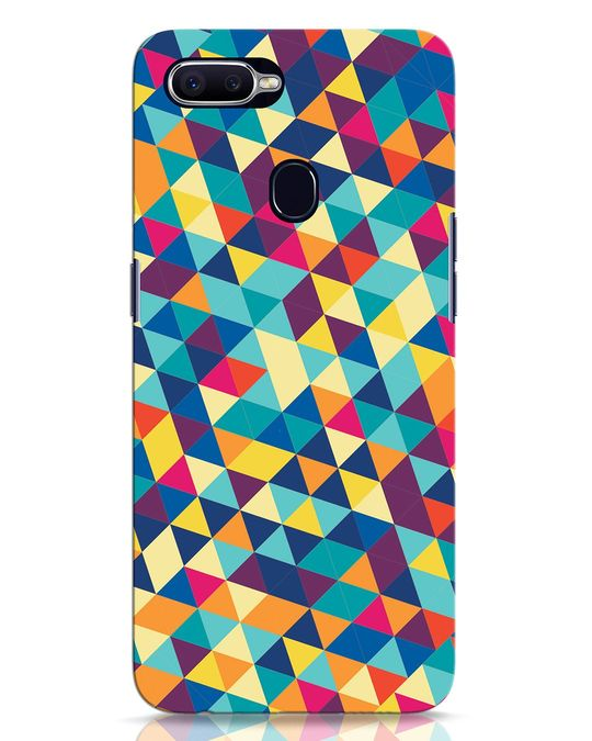 Shop Abstract Triangles Oppo F9 Pro Mobile Cover-Front