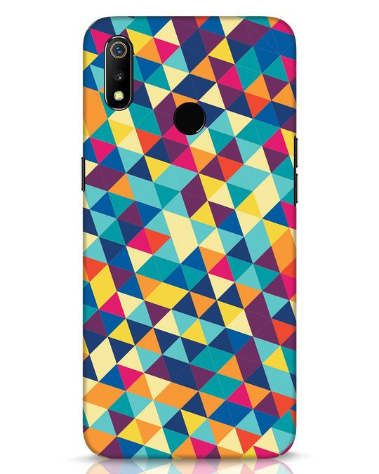 Shop Abstract Triangles Realme 3 Mobile Cover-Front