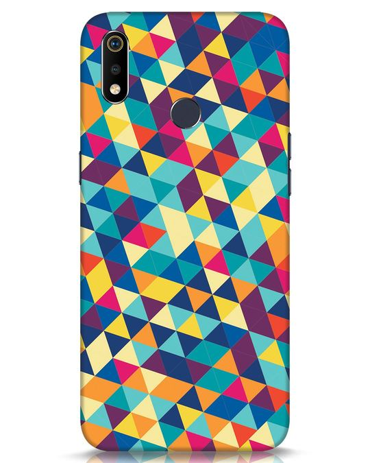 Shop Abstract Triangles Realme 3i Mobile Cover-Front