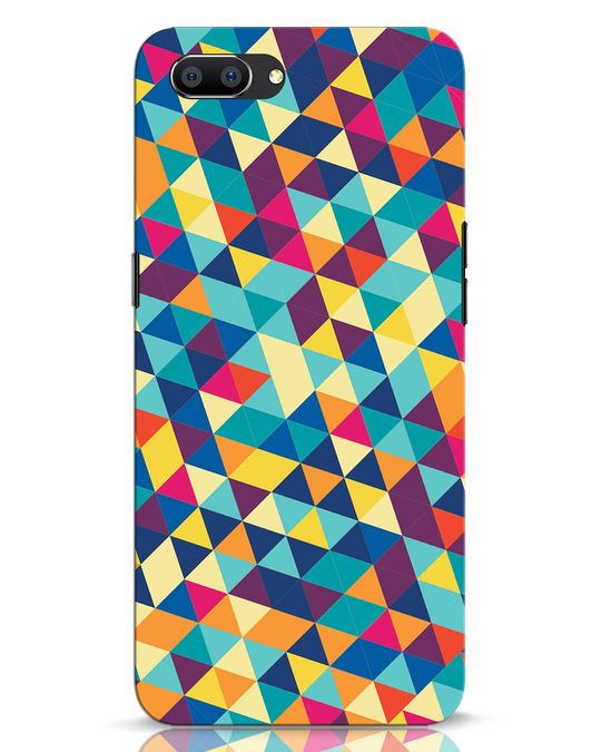 Shop Abstract Triangles Realme C1 Mobile Cover-Front