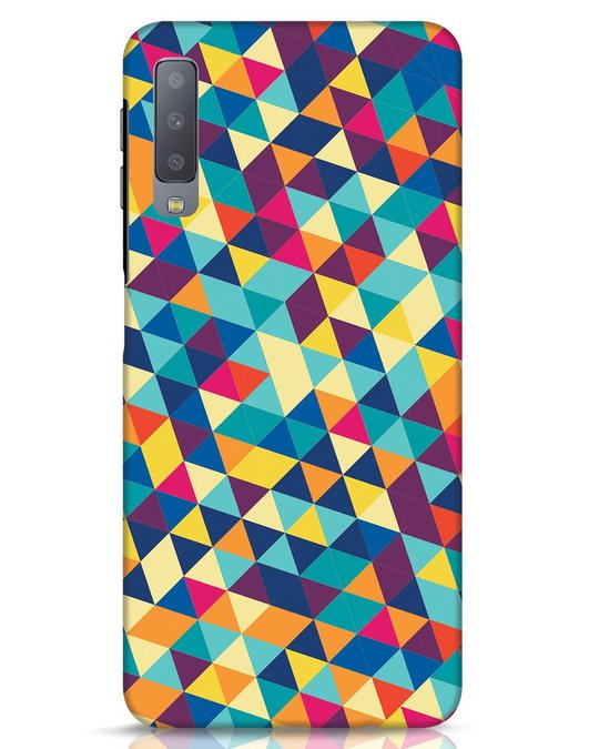 Shop Abstract Triangles Samsung Galaxy A7 Mobile Cover-Front