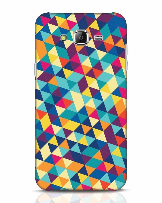 Shop Abstract Triangles Samsung Galaxy J7 Mobile Cover-Front