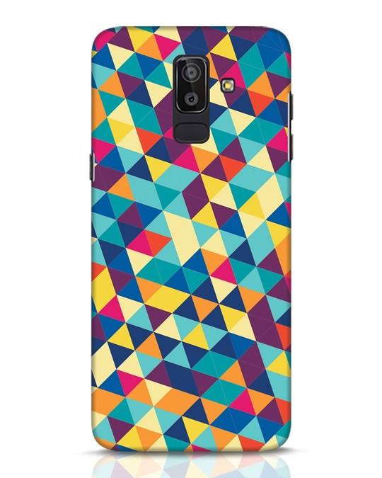 Shop Abstract Triangles Samsung Galaxy J8 Mobile Cover-Front