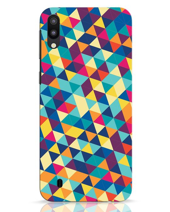 Shop Abstract Triangles Samsung Galaxy M10 Mobile Cover-Front