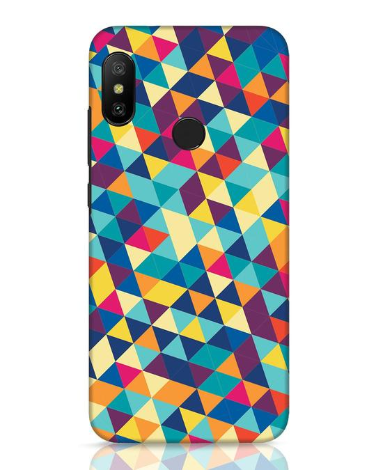 Shop Abstract Triangles Xiaomi Redmi 6 Pro Mobile Cover-Front
