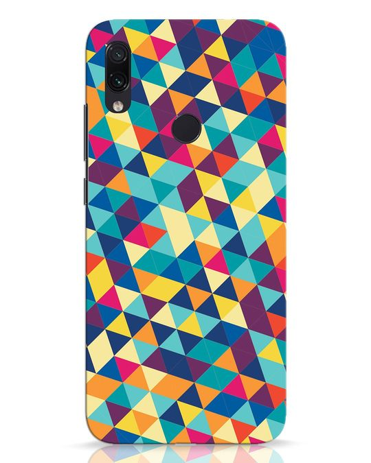 Shop Abstract Triangles Xiaomi Redmi Note 7 Pro Mobile Cover-Front