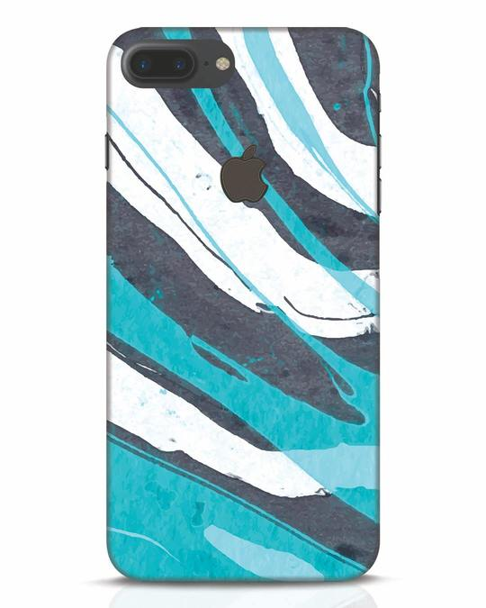 Shop Abstract Watercolor iPhone 7 Plus Logo Cut Mobile Cover-Front