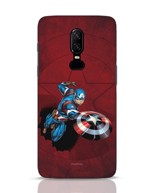 Shop Action Captain OnePlus 6 Mobile Cover (AVL)-Front