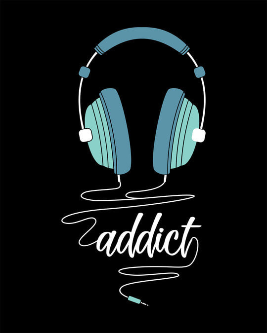 Shop Addict Music Half Sleeve T-Shirt