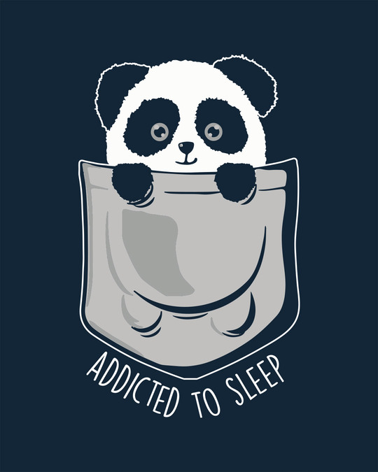 Shop Addicted To Sleep Round Neck 3/4th Sleeve T-Shirt