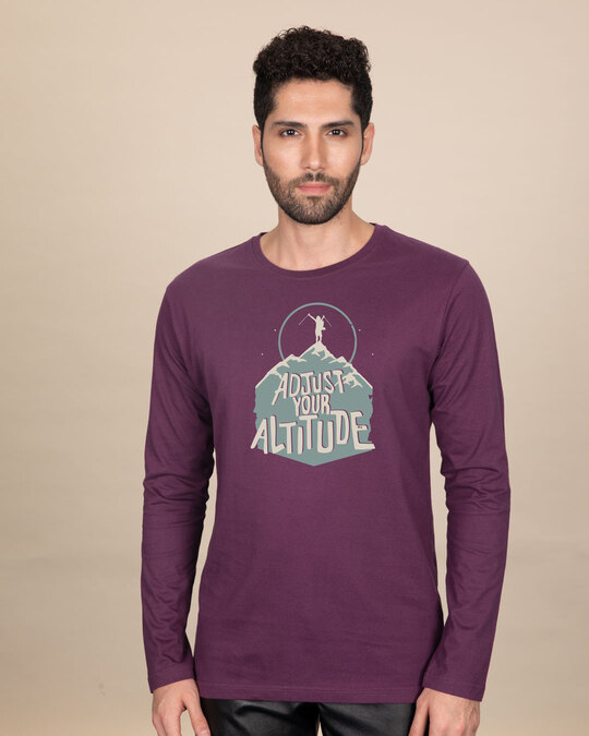 Shop Adjust Your Altitude Full Sleeve T-Shirt-Front