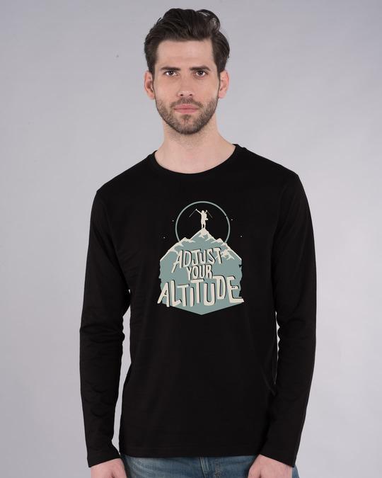 Shop Adjust Your Altitude Full Sleeve T-Shirt-Front