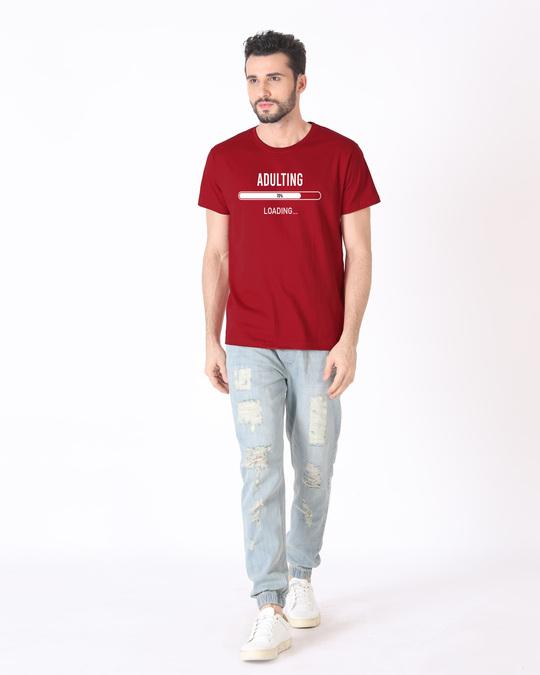 Shop Adulting Error 404 Half Sleeve T-Shirt-Full