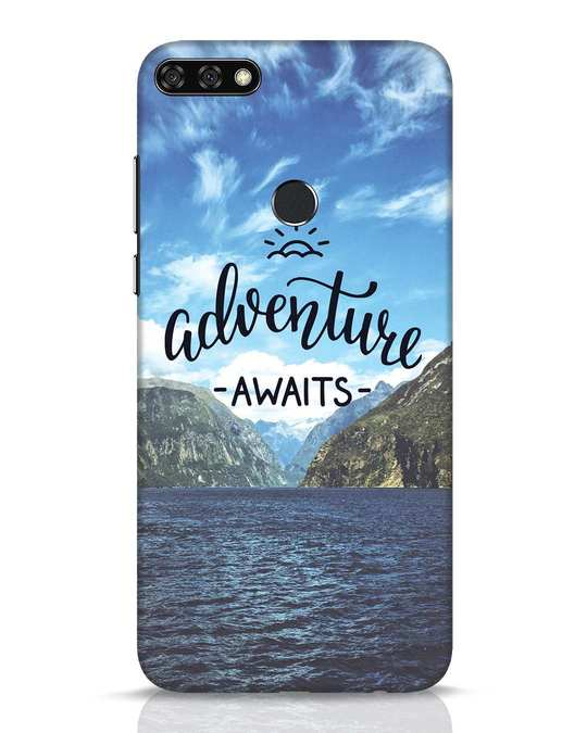 Shop Adventire Awaits Huawei Honor 7C Mobile Cover-Front