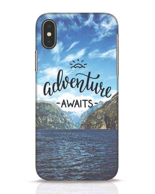 Shop Adventire Awaits iPhone X Mobile Cover-Front