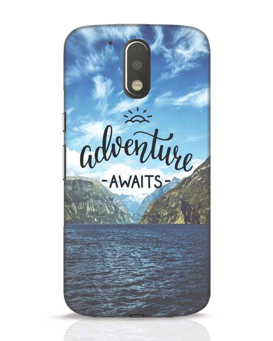 Shop Adventire Awaits Moto G4 Plus Mobile Cover-Front