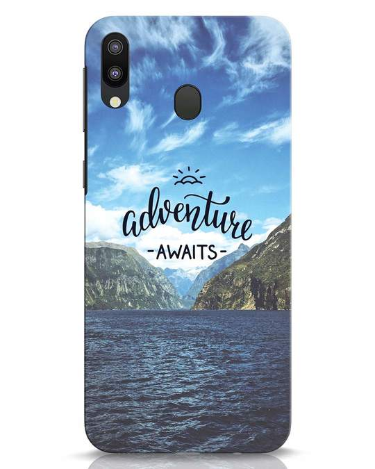 Shop Adventire Awaits Samsung Galaxy M20 Mobile Cover-Front