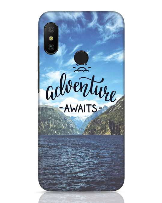Shop Adventire Awaits Xiaomi Redmi 6 Pro Mobile Cover-Front