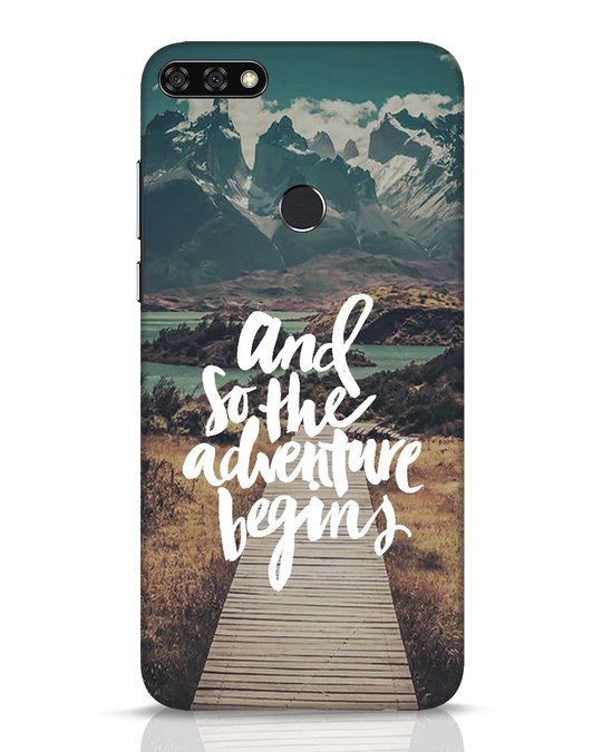 Shop Adventure Begins Huawei Honor 7C Mobile Cover-Front
