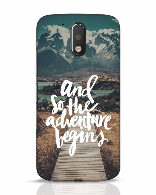 Shop Adventure Begins Moto G4 Plus Mobile Cover-Front