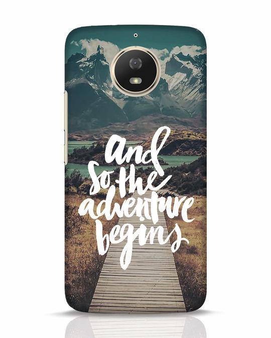 Shop Adventure Begins Moto G5s Mobile Cover-Front