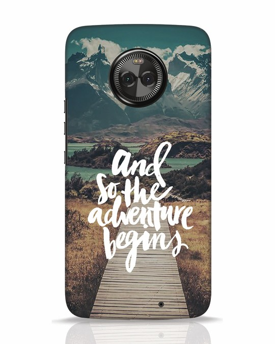 Shop Adventure Begins Moto X4 Mobile Cover-Front