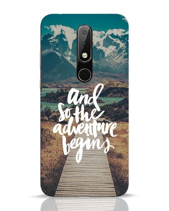 Shop Adventure Begins Nokia 6.1 Plus Mobile Cover-Front