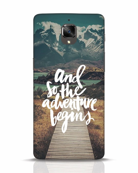 Shop Adventure Begins OnePlus 3T Mobile Cover-Front
