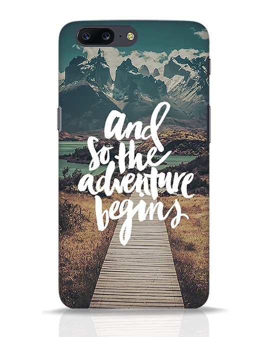 Shop Adventure Begins OnePlus 5 Mobile Cover-Front