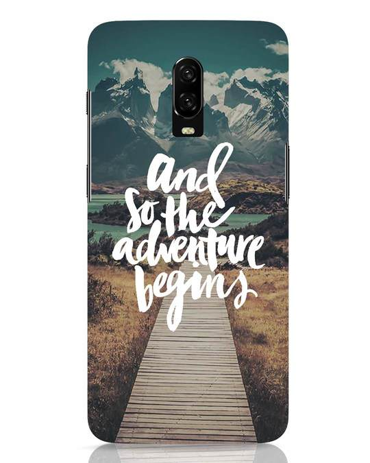 Shop Adventure Begins OnePlus 6T Mobile Cover-Front