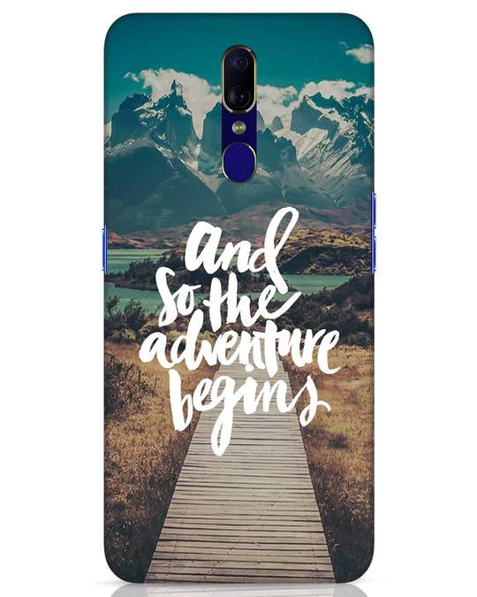 Shop Adventure Begins Oppo F11 Mobile Cover-Front