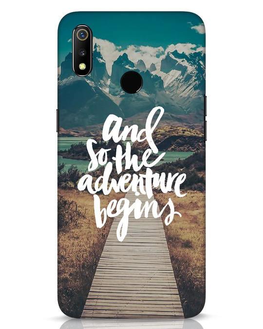 Shop Adventure Begins Realme 3 Mobile Cover-Front
