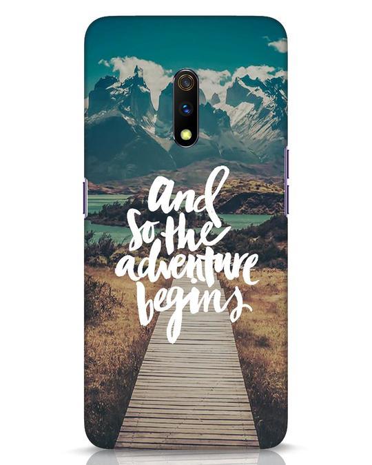 Shop Adventure Begins Realme X Mobile Cover-Front
