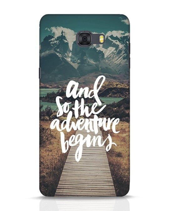 Shop Adventure Begins Samsung Galaxy C9 Pro Mobile Cover-Front