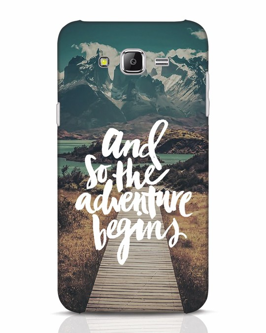 Shop Adventure Begins Samsung Galaxy J7 Mobile Cover-Front