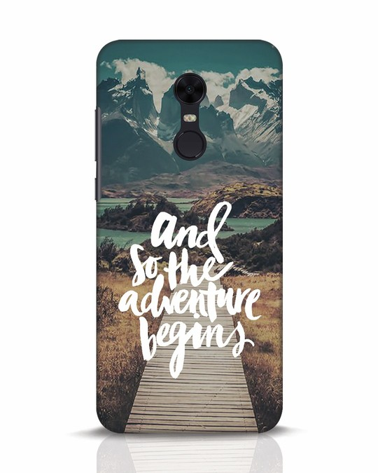 Shop Adventure Begins Xiaomi Redmi Note 5 Mobile Cover-Front