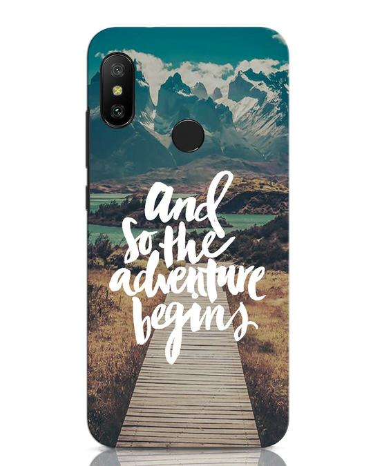 Shop Adventure Begins Xiaomi Redmi Note 6 Pro Mobile Cover-Front