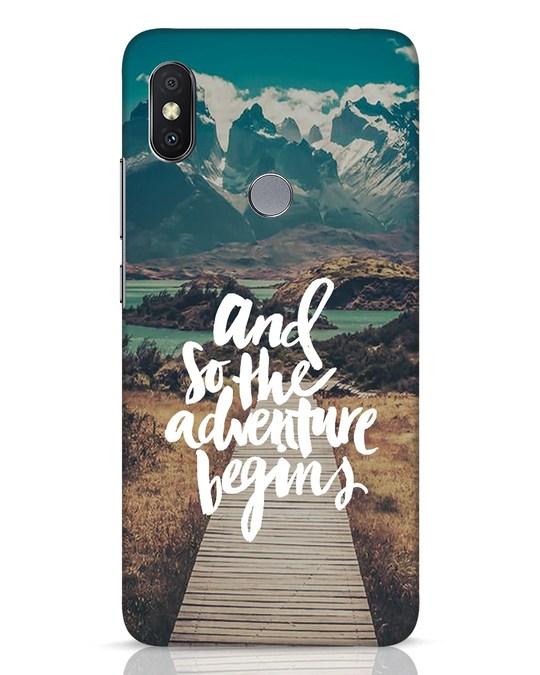 Shop Adventure Begins Xiaomi Redmi Y2 Mobile Cover-Front