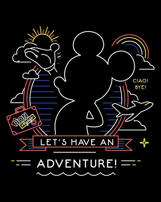Shop Adventure Mickey Boyfriend T-Shirts (DL) Black-Full