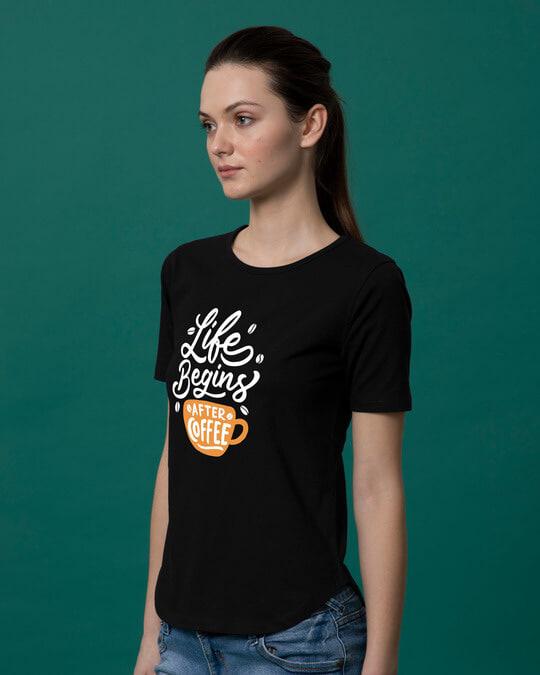 Shop After Coffee Basic Round Hem T-Shirt-Back
