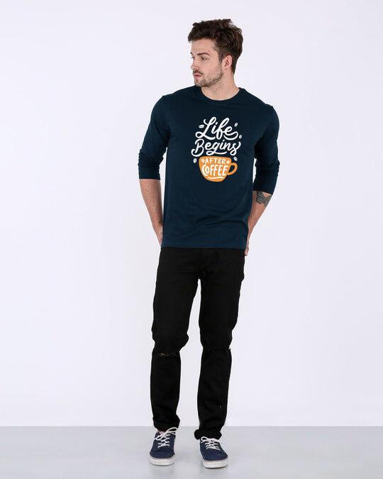 Shop After Coffee Full Sleeve T-Shirt