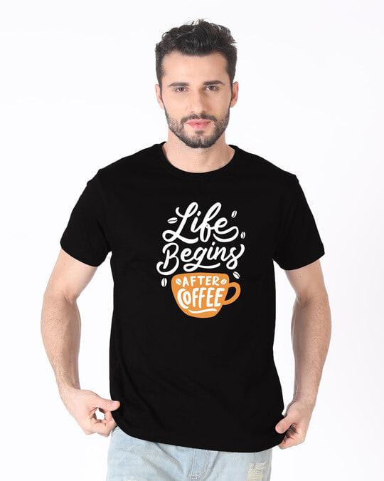 Shop After Coffee Half Sleeve T-Shirt-Back