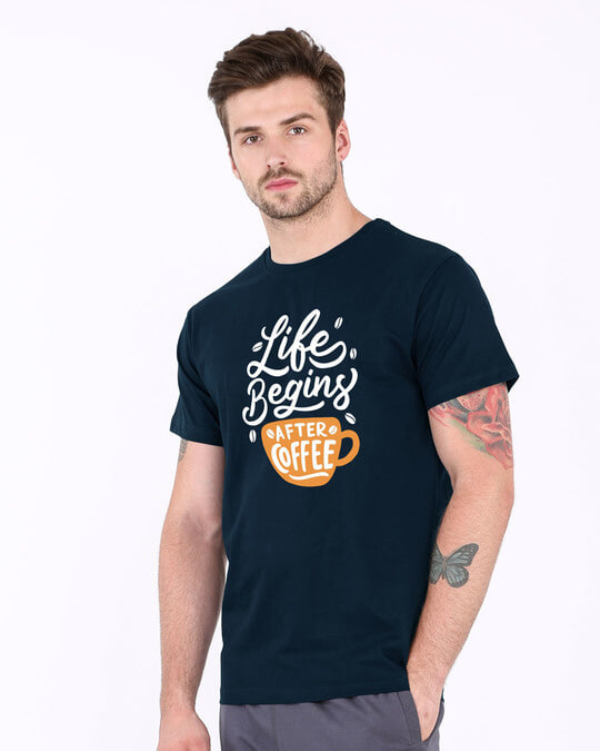 Shop After Coffee Half Sleeve T-Shirt-Full