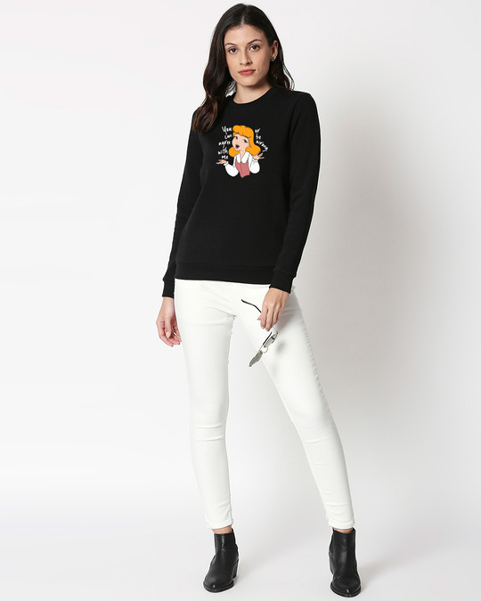 Shop Agree With Me Fleece Sweatshirt (DL) Black-Design