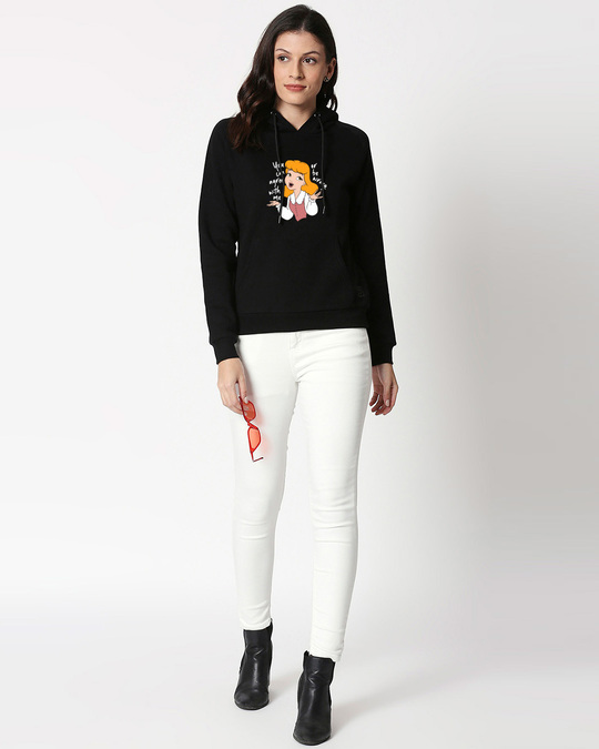 Shop Agree With Me Sweatshirt Hoodie (DL) Black-Design