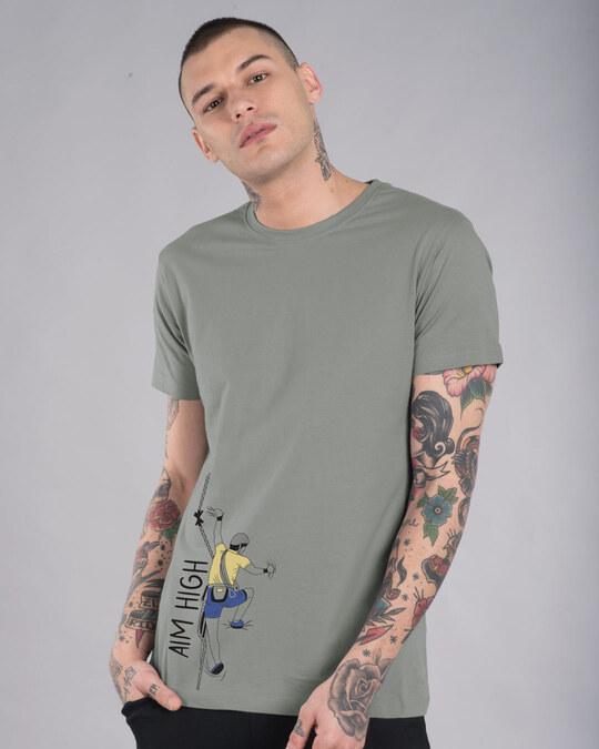 Shop Aim High Half Sleeve T-Shirt-Front