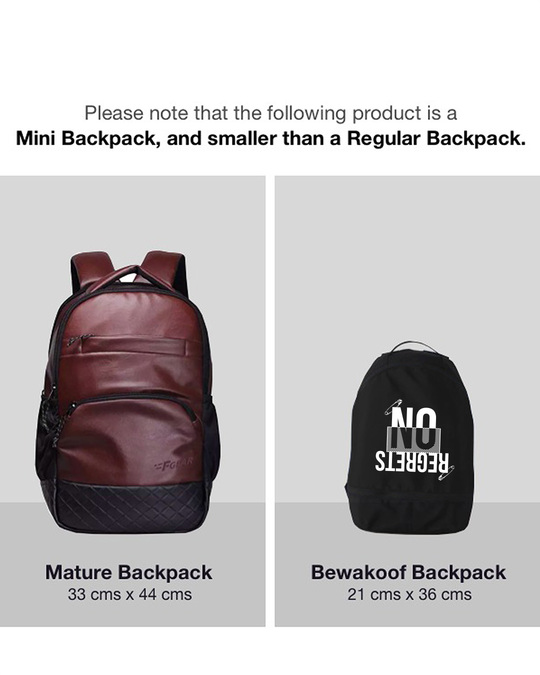 Shop Ain't No Regrets Small Backpack