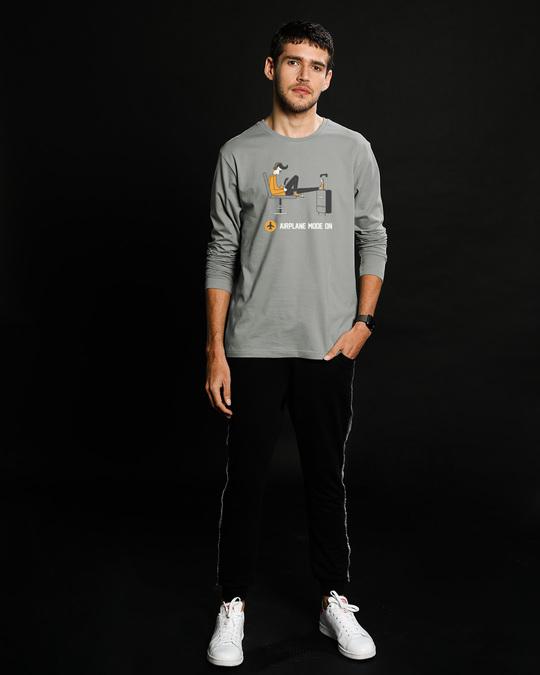 Shop Airplane Mode On Full Sleeve T-Shirt-Full