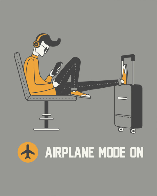 Shop Airplane Mode On Full Sleeve T-Shirt