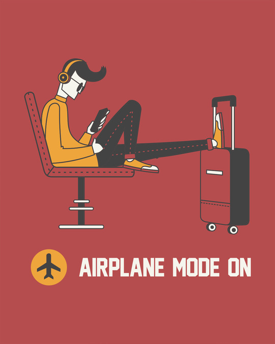 Shop Airplane Mode On Full Sleeve T-Shirt-Full